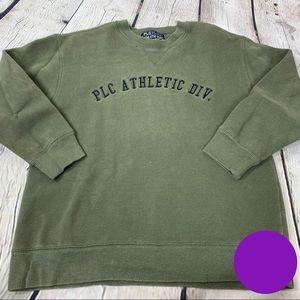 Place Athletic Dept Sweatshirt Olive Green Crew L